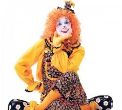 resting circus clown
