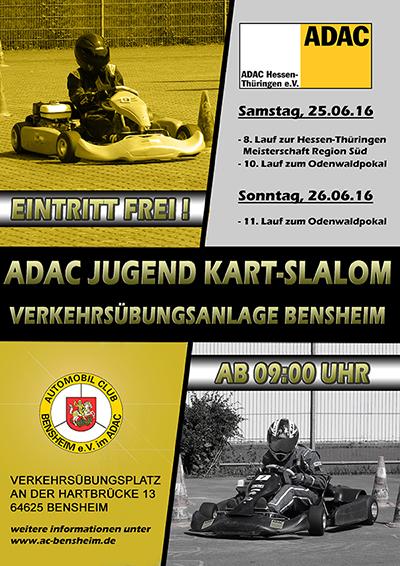 AC Bensheim Jugend Kart-Slalom Veranstaltung Plakat